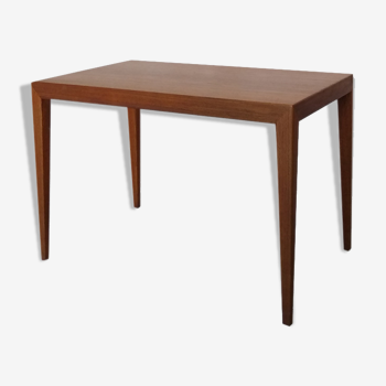 Teak coffee table by S. Hansen for Haslev, Denmark, 60