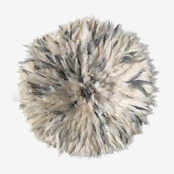 Juju hat blanc et gris 85 cm
