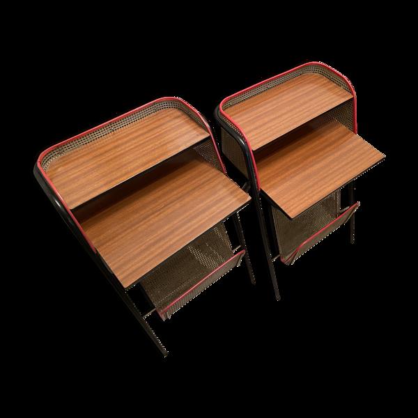 Selency Paire de tables de chevet