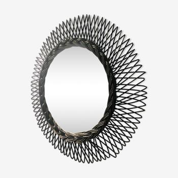 Rattan Mirror 49cm