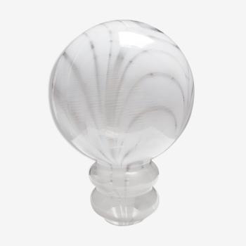 Globe de lampe italie décor marbré space age
