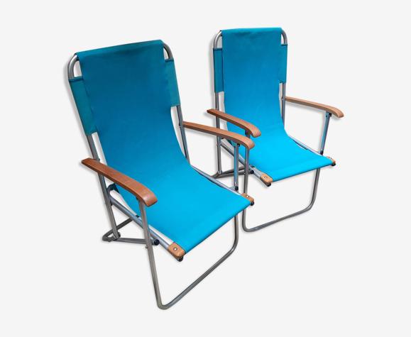 Lot de deux fauteuils pliants Dejou