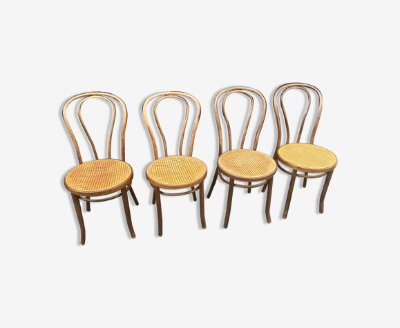Lot de 4 chaises Radomsko cannées