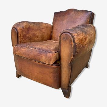 Leather club armchair 1930