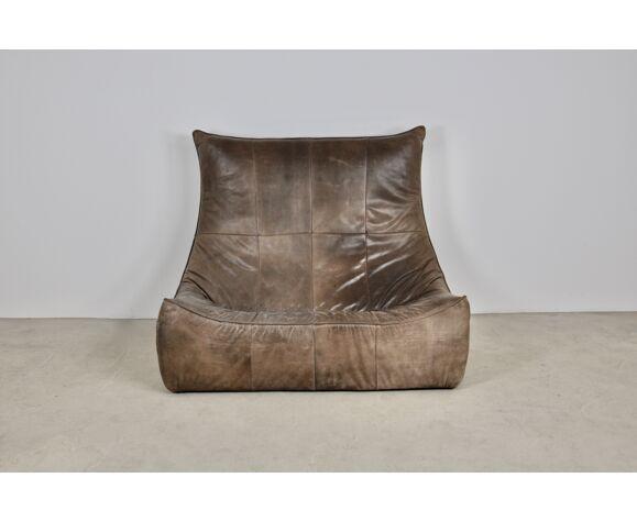 Canapé en cuir Gerard van den Berg pour Montis 1970s