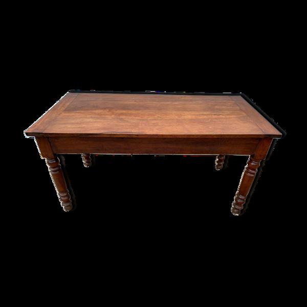 Table de cuisine de ferme en merisier massif 150x73cm