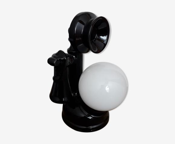 Lampe céramique vintage téléphone