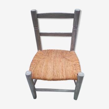 Chaise basse enfant patine verte