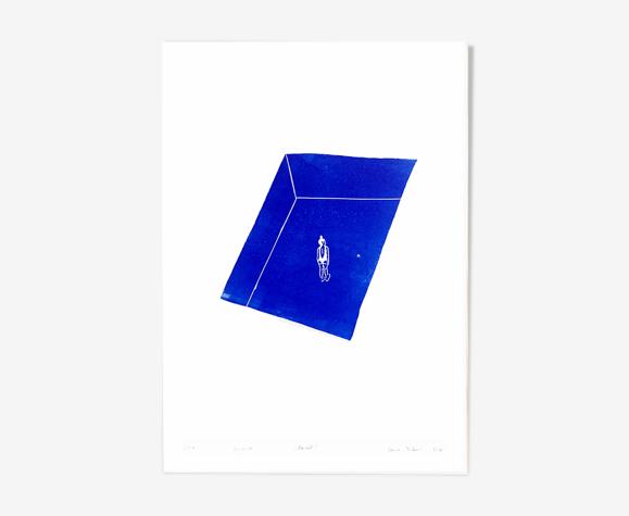"""""""Pool"""" lino print"""