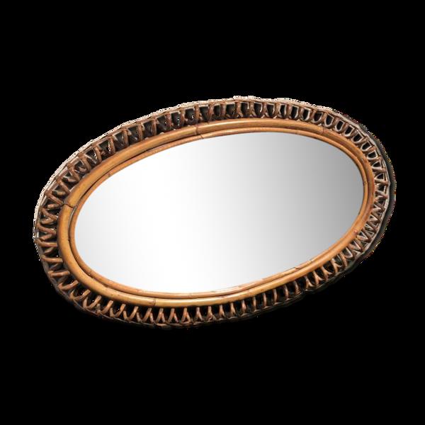 Miroir rotin - 42x40cm