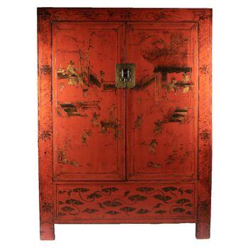 Armoire chinoise peinte