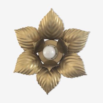 Applique fleur vintage dorée