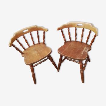 Paire de chaises western