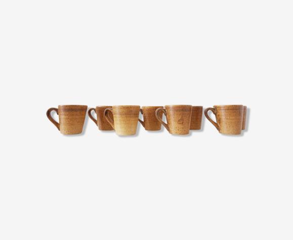 Service à café vintage en grès