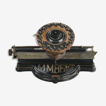 Lambert typewriter from 1884