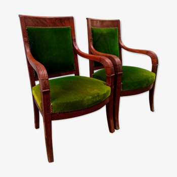 Pair of armchairs period resrauration