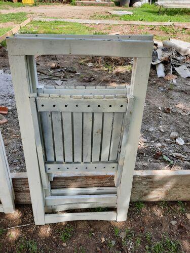 5 chaises pliantes de jardin