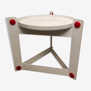 Side table with removable top, Luigi Massoni, Guzzini 1970