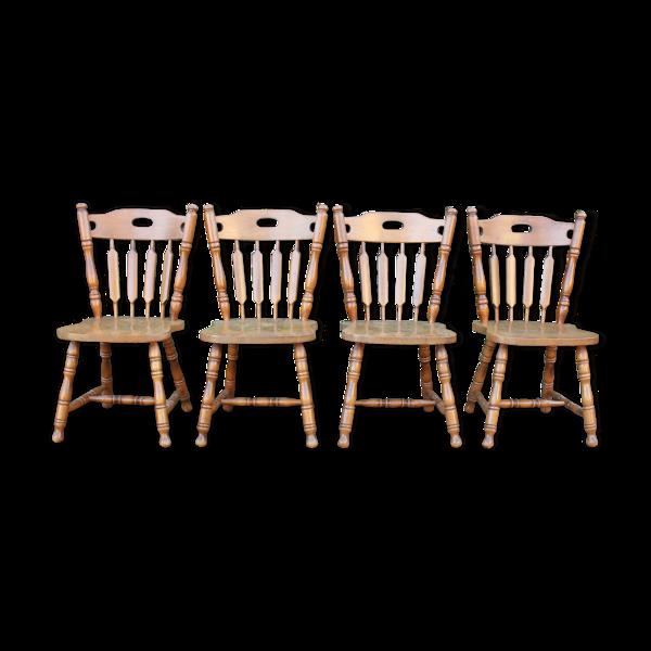 Lot de 4 chaises western