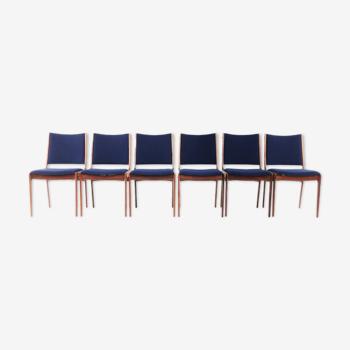 Six chaises danois de Johannes Andersen