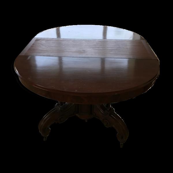 Table à manger acajou 18 couverts XIXe siècle