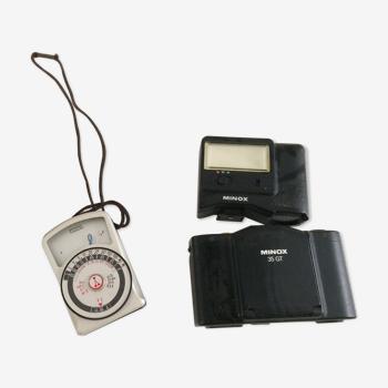 Appareil photo minox 35 gt + flash + cellule yashica yem-31 super