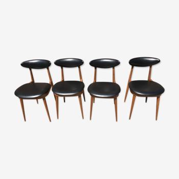 Set de 4 chaises vintage Baumann