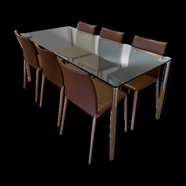 Table et chaises par Zanotta, Italie