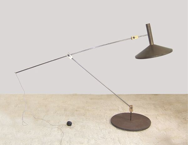 Unique Lampe Lampadaire des années 50 60