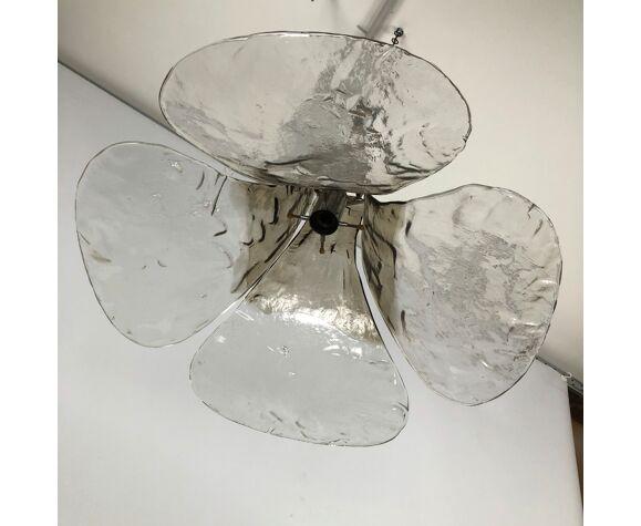 Lustre fleurs en verre de Murano Carlo Nason, pour mazzega 1970