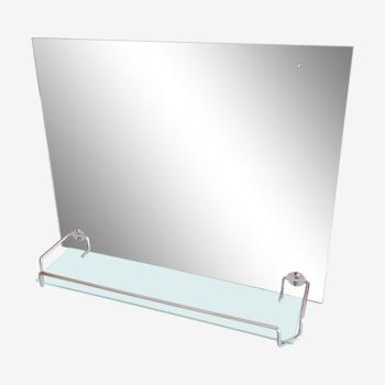 Miroir de salle de bain avec sa tablette, vintage années 50/60