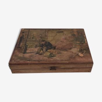 jeu 1950 - cubes en bois « la samaritaine » signé jean chaperon-complet