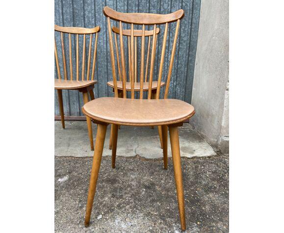 Set de 4 chaises bistrot vintage Baumann Tacoma 1960