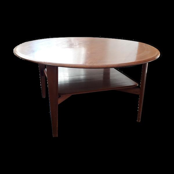 Table basse danoise, ronde