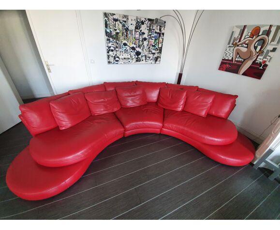 Canapé et 2 fauteuils en cuir Roche Bobois
