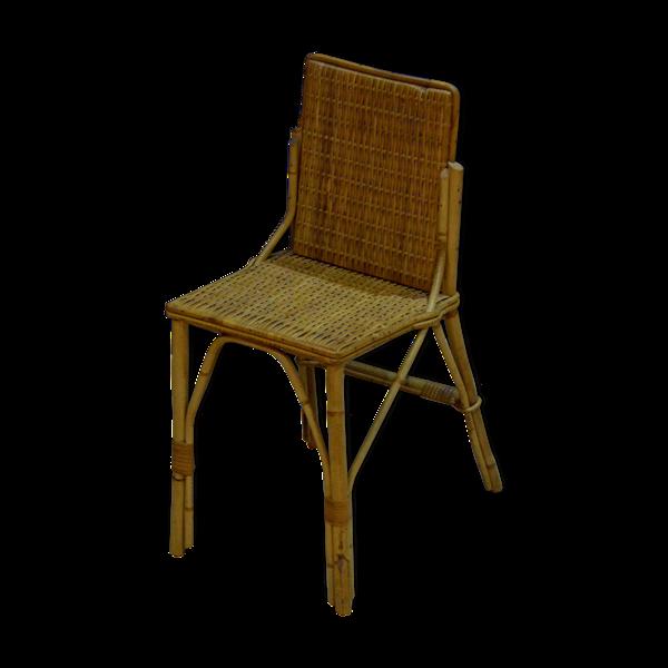 Chaise en bambou et osier