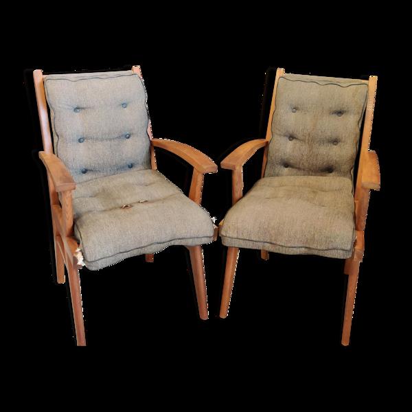 Paire de fauteuils modèle Free Span fs116