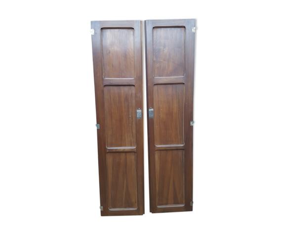 Paire de portes Art Déco bois massif