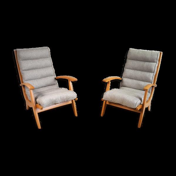 Paire de fauteuils FS 123 Free-Span France 1954