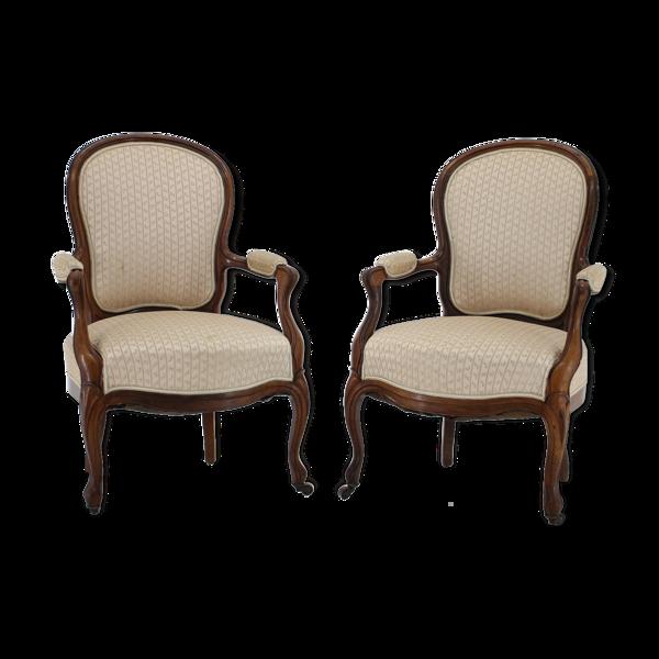 Paire de chaises Rococo danoises originales