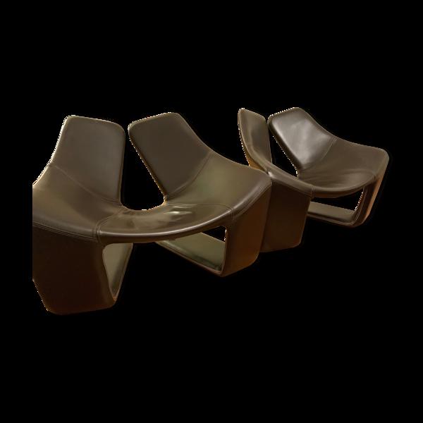 Paire de fauteuils Zen Steiner