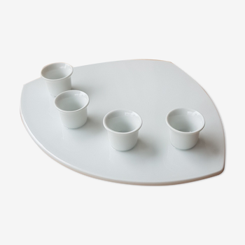 Bougeoir blanc porcelaine