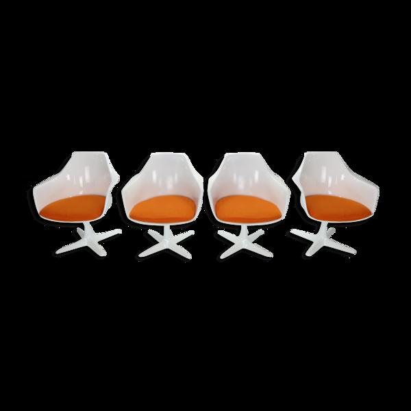 Lot de 4 fauteuils modèle n ° 116 design Maurice Burke pour Arkana 1960