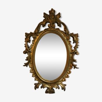 Miroir doré 19x29cm