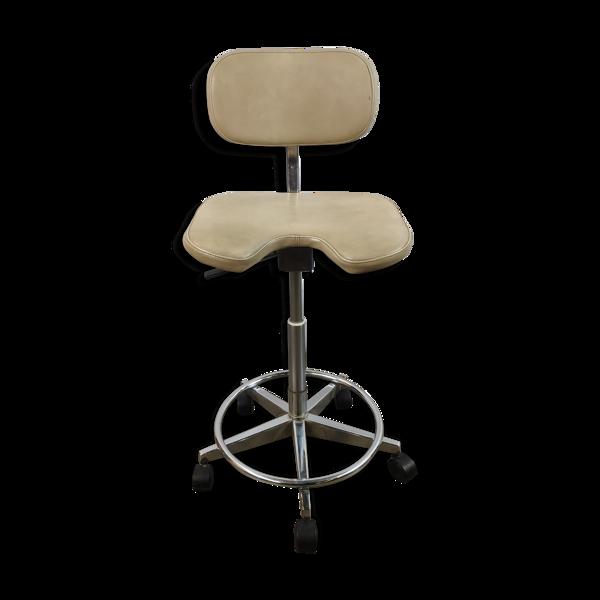 Chaise professionnelle à roulettes de dentiste