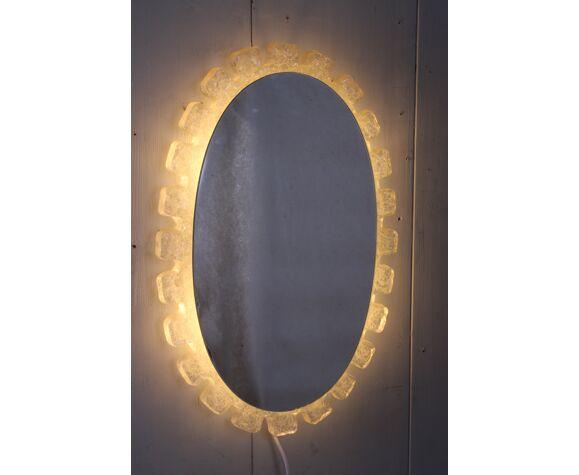 Miroir ovale de Hillebrand Allemagne années 60 - 65x43cm