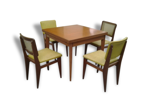 Selency Ensemble chaises et table scandinave