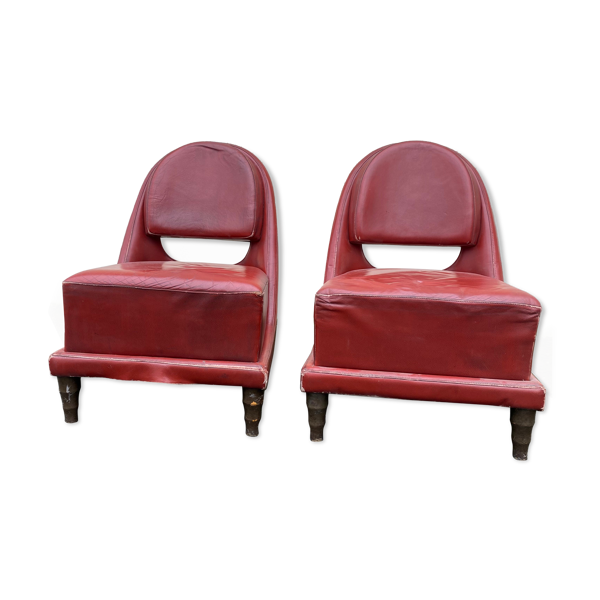 Paire de fauteuils chauffeuses art deco