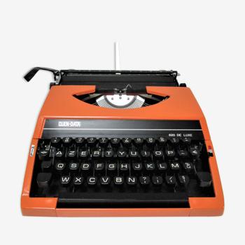 Machine à écrire quen data 620 de luxe métal orange années 70