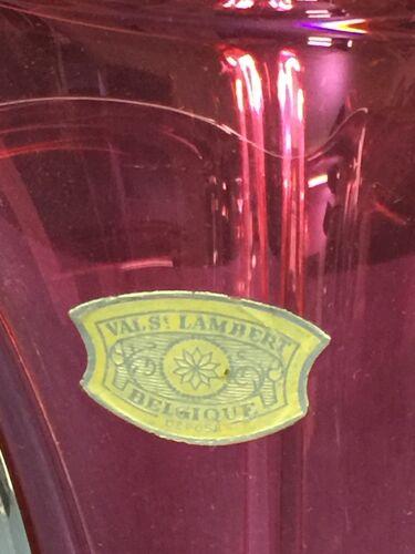 Vase en cristal massif Val Saint Lambert